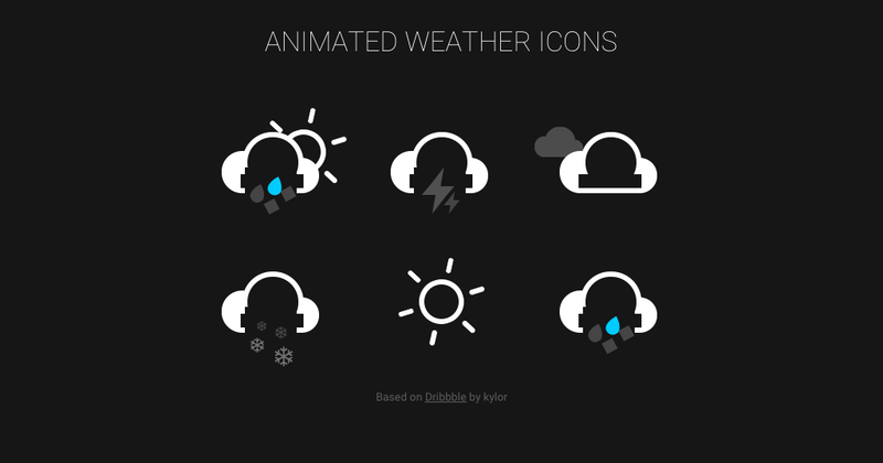 Pure CSS Animated Weather Icons | CodePen - Hashnode