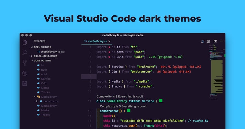 What's your favorite Visual Studio Code dark theme
