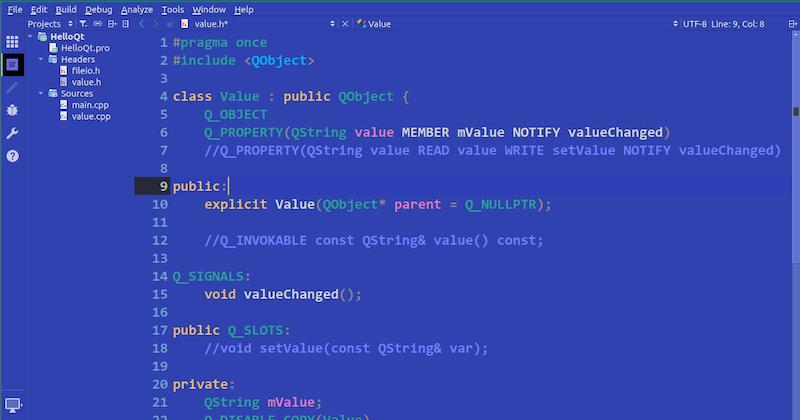 BlueSky QtCreator Theme Update